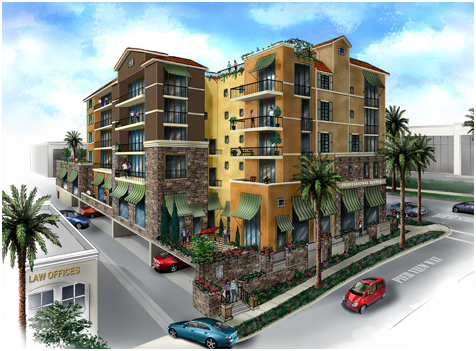 PORTOLA MIXED-USE AND SUBTERRANEAN PARKING STRUCTURE OCEANSIDE, CALIFORNIA